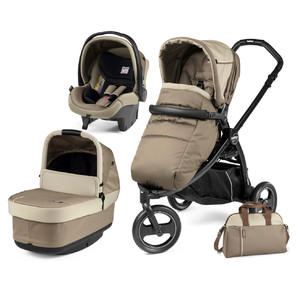 Коляска 3 в 1 Peg-Perego Book Scout Pop Up Class Beige