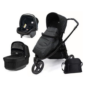 Коляска 3 в 1 Peg-Perego Book Scout Pop Up Onyx
