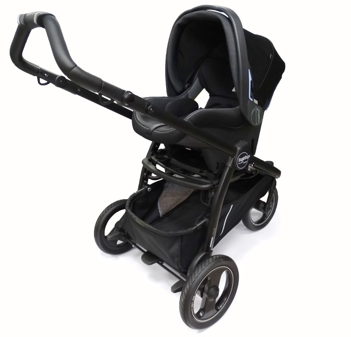 Детская коляска 3 в 1 Peg-Perego Book Scout Pop Up Onyx
