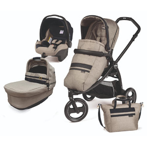 Коляска 3 в 1 Peg-Perego Book Scout Pop Up Luxe Ecru