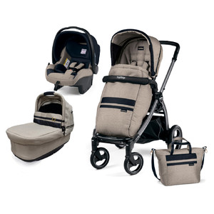 Коляска 3 в 1 Peg-Perego Book S Pop Up Luxe Ecru