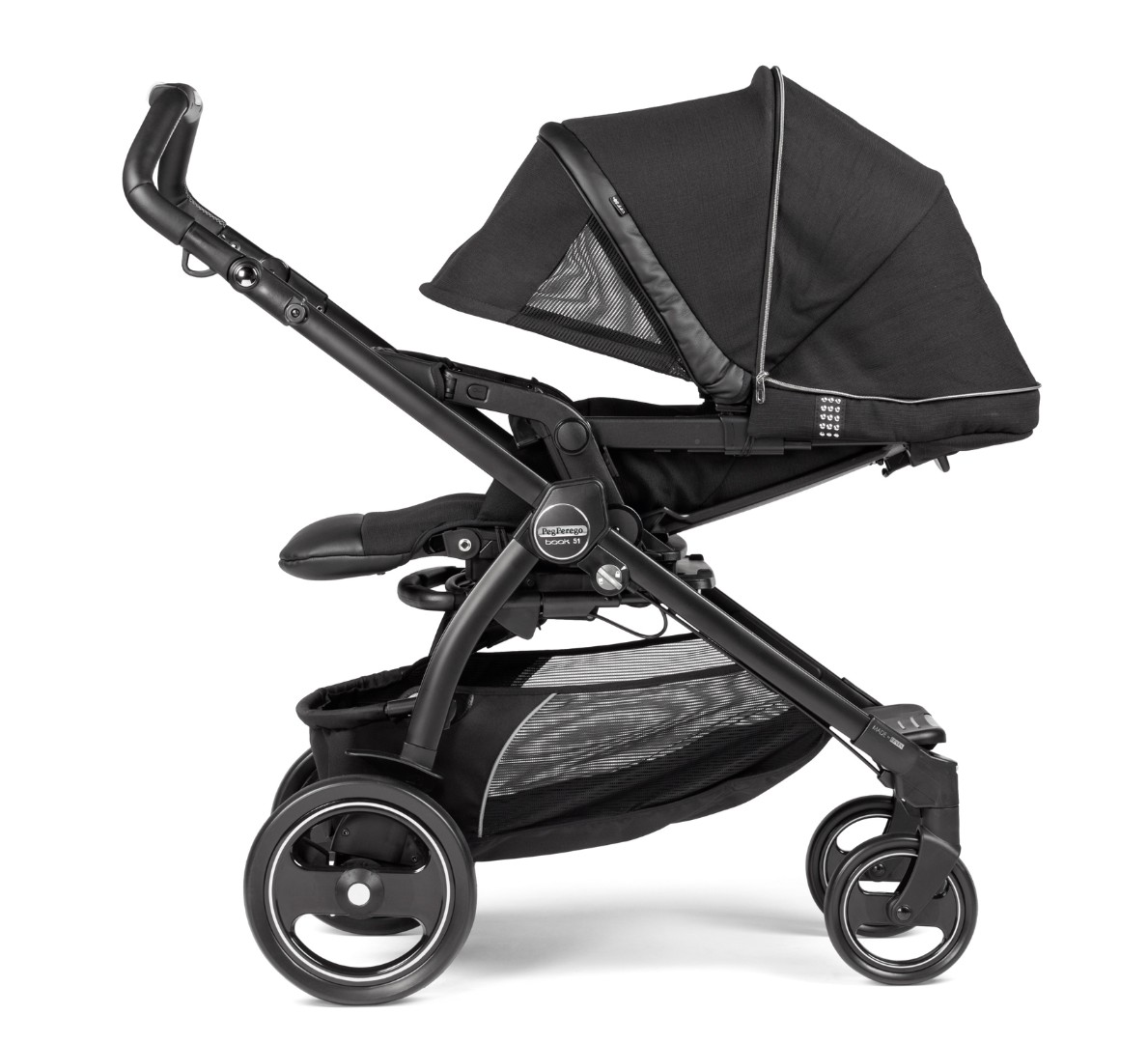 Детская коляска 3 в 1 Peg-Perego Book Rock Black Elite Modular