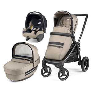 Коляска 3 в 1 Peg-Perego Team Elite SL Luxe Ecru