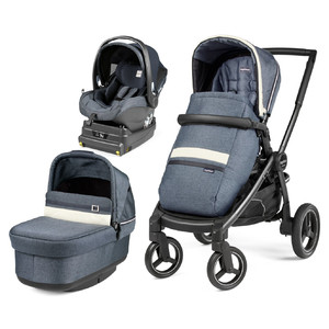 Коляска 3 в 1 Peg-Perego Team Pop-Up i-Size Luxe Mirage