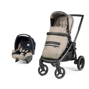 Коляска 2 в 1 Peg-Perego Team SL Travel System Luxe Ecru