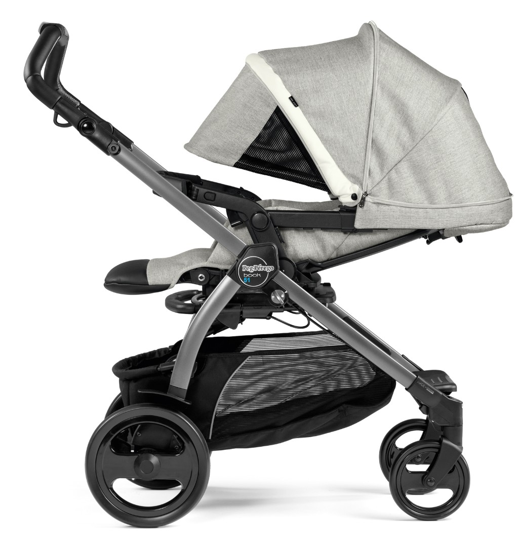 Коляска 2 в 1 Peg-Perego Book 51 Pop-Up Combo Luxe Pure