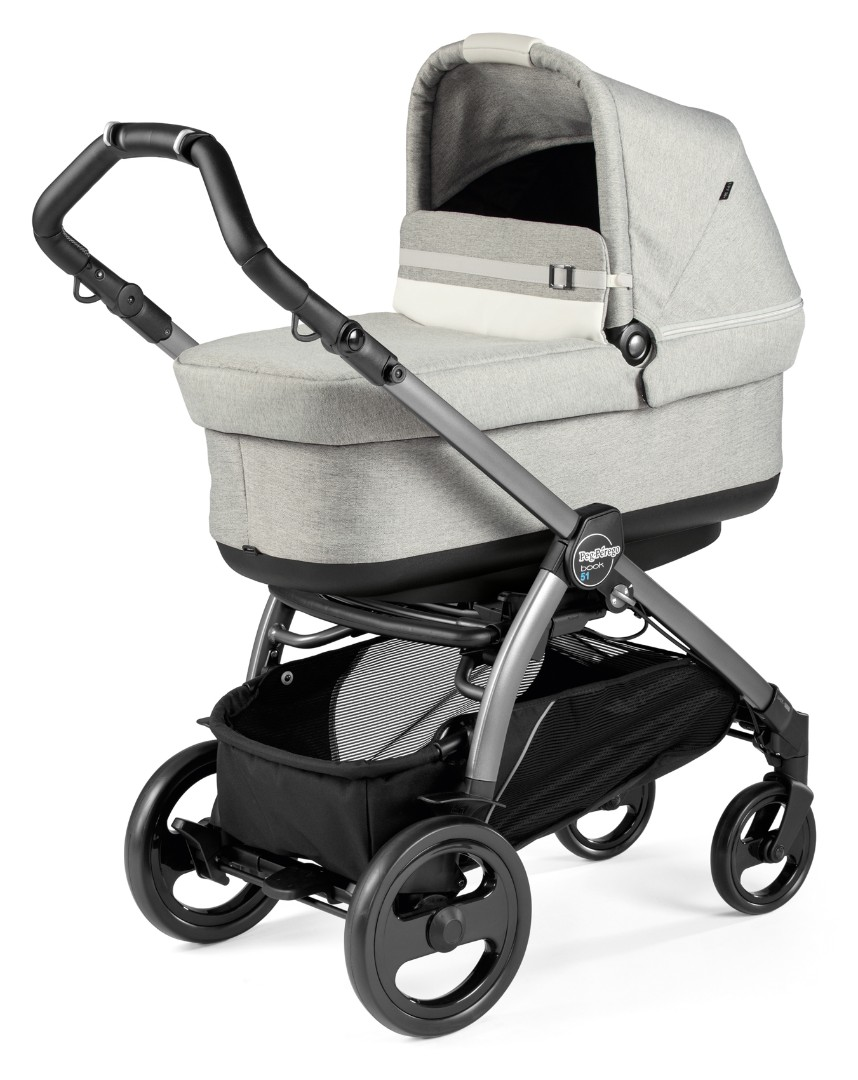 Коляска 3 в 1 Peg-Perego  Book 51 Pop-Up i-Size Luxe Pure