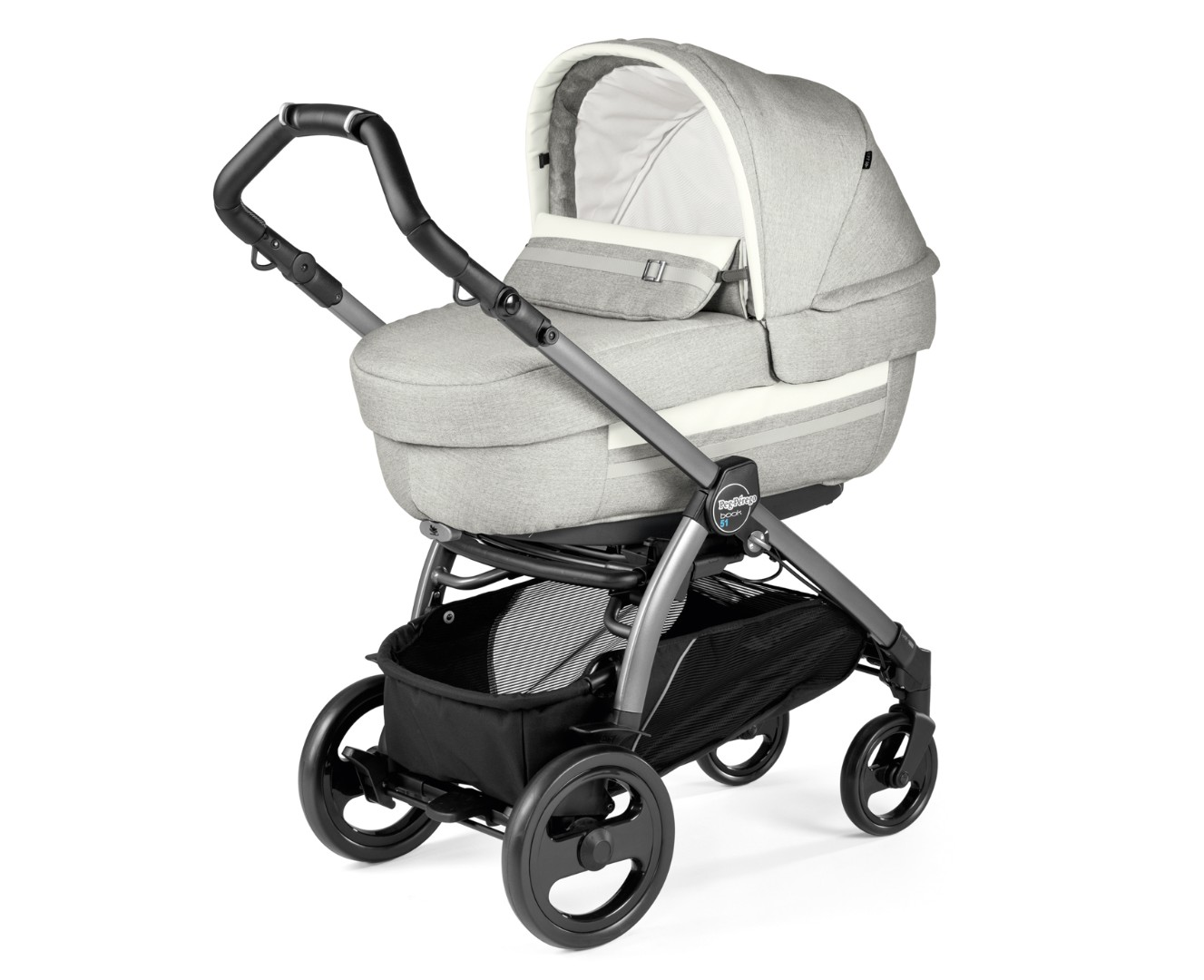 Коляска 3 в 1 Peg-Perego Book 51 Elite SL Luxe Pure